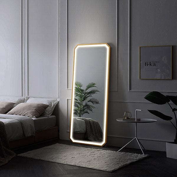 엘리스 터치 LED조명 거치형 전신거울 대(블랙,네츄럴,화이트)