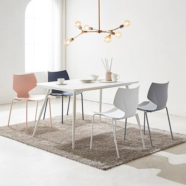 쿠앤크 인테리어 식탁의자 세트(식탁+의자4개 셋트구성)