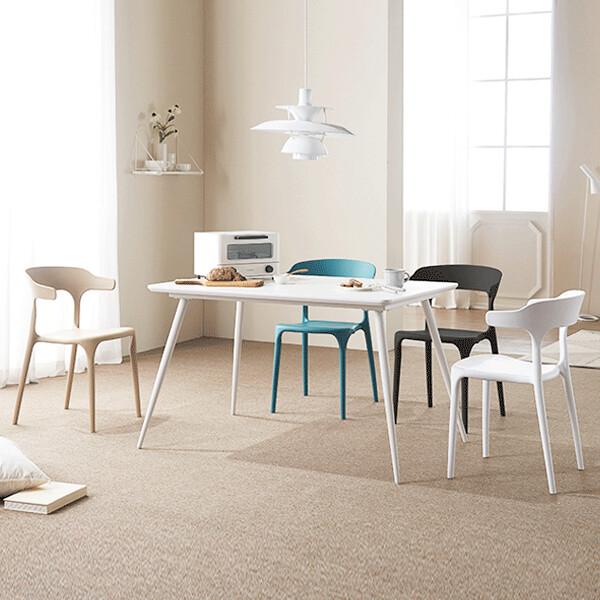 이케아스타일 마스 인테리어 식탁의자 세트 (식탁+의자4개 셋트구성 / 의자색상 옵션선택)