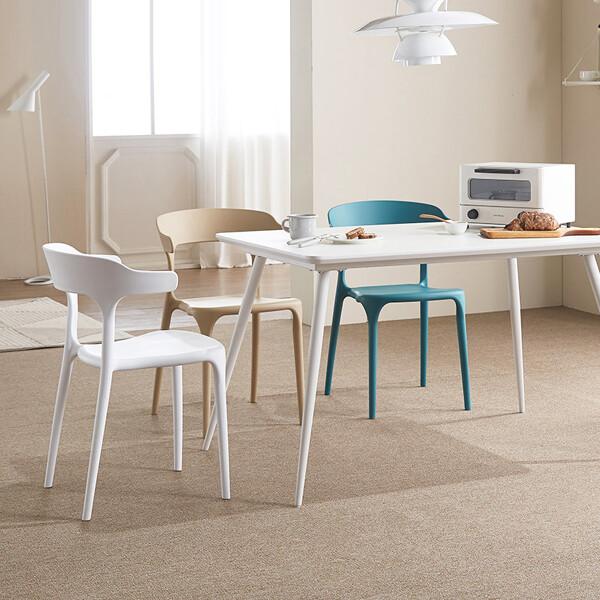 이케아스타일 마스 인테리어 식탁의자 세트 (식탁+의자4개 셋트구성 / 의자색상 옵션선택)_리씽크팀