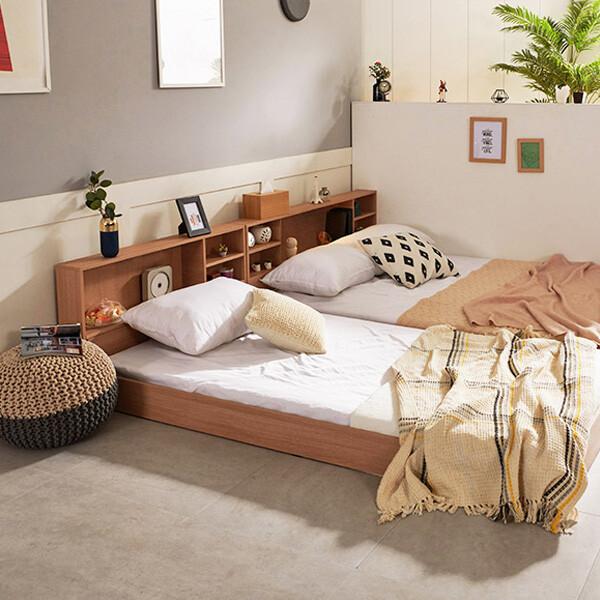 침대 7만원대! 초특가!! 로제 수납헤드 침대 SS,Q(2color,매트리스구성 가능)