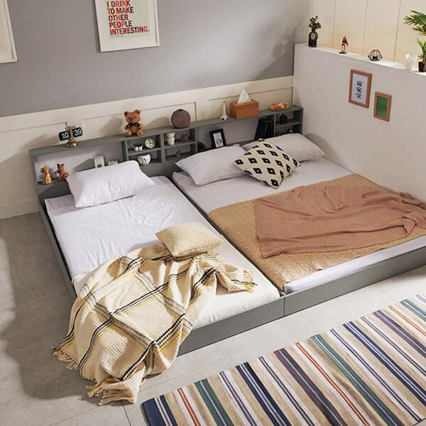 침대 7만원대! 초특가!! 로제 수납헤드 침대 SS,Q(2color,매트리스구성 가능)_리씽크팀