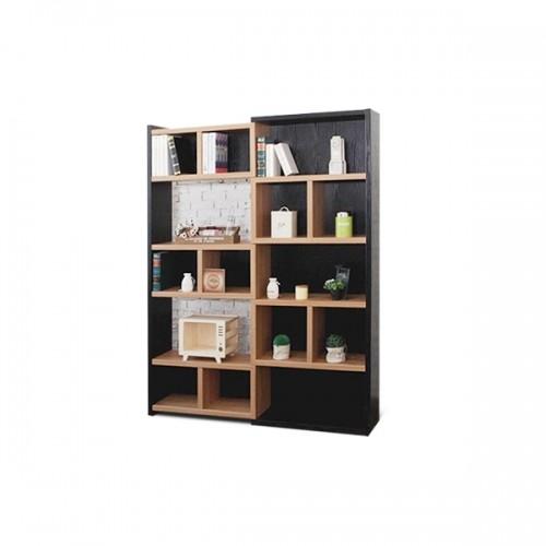 일론 확장 3자 840 책장 6color (블랙&아카시아,블랙&화이트,아카시아&화이트,진그레이,진그레이&연그레이,연그레이&크림)
