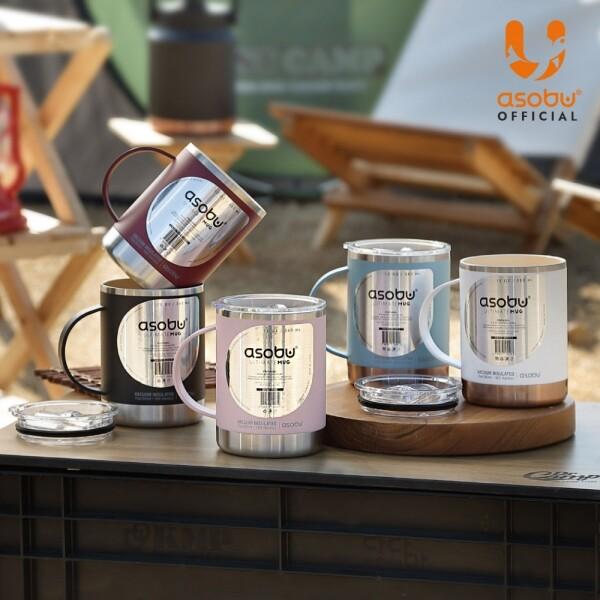 [리퍼상품 한정판매] 캐나다 아소부 스테인레스 얼티밋 머그컵 (내부 세라믹 코팅)