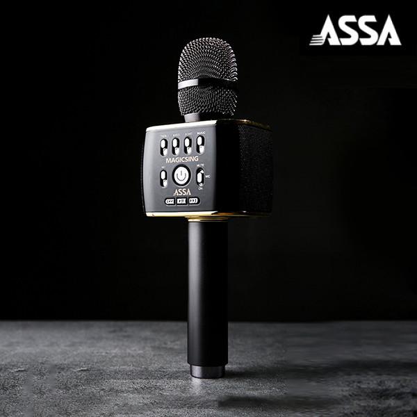 명품노래방 마이크 ASSA 노래방 매직씽 MP30 블루투스 스피커+마이크 (5만원상당 아싸노래방 어플 1년사용권 선착순증정)
