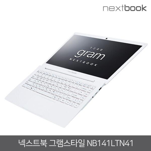 이태원클라쓰북 그램스타일 노트북 가볍다! [NEXTBOOK] NB141LTN41 화이트 (8세대 인텔 듀얼코어N4020/램4G/UHD600/14인치 IPS FHD1920*1080/윈도우10 Pro)