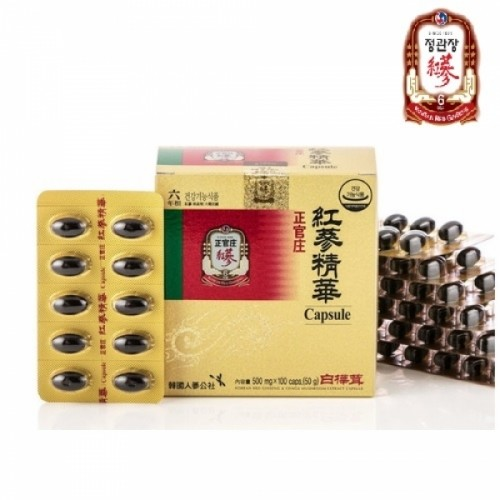 [정관장] 홍삼정화캡슐 500mg x 100caps (6년근홍삼+차가버섯 원료)